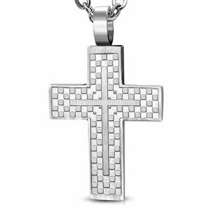 """Cross staal"" Ketting."