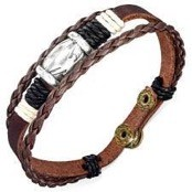 "Armband ""Stylish Leather""."