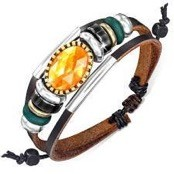"Fashion armband ""Zark"" Leren"
