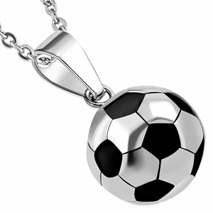"Ketting ""Red Football"" Roestvrij staal."