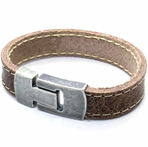 MaZo heren lederen armband raw brown