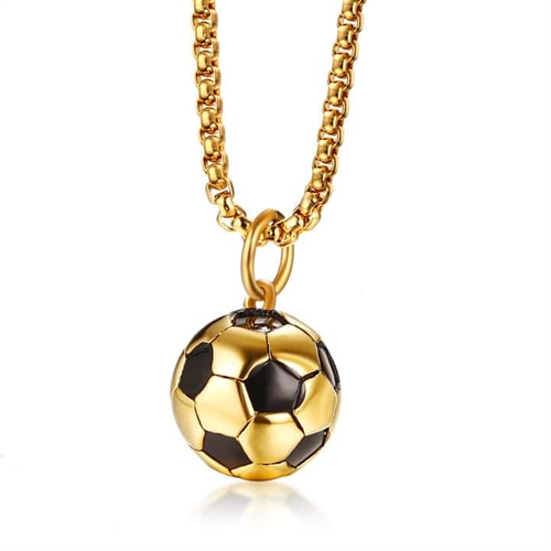 "Ketting ""Golden Football"" Roestvrij staal."