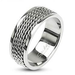 "Herenring ""hecta"" Stainless Steel"