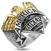 "Heren ring Amerikaanse Biker ""Eagle"""