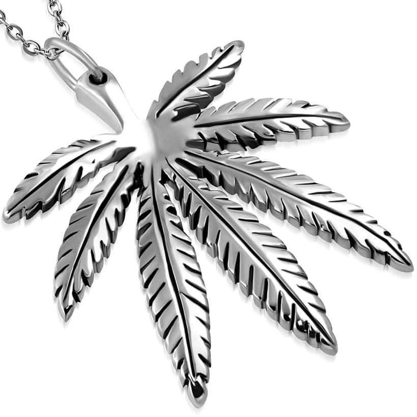 "Ketting in RVS ""Marihuana"""