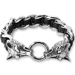 hoofd armband staal wolf