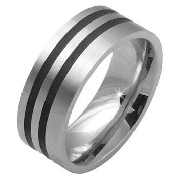 "Heren ring ""Steel"""