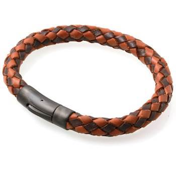 Lederen Armband Dark Brown