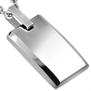 "Ketting in Tungsten Carbide ""Tags"""