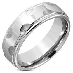 Tungsten Ring met edge