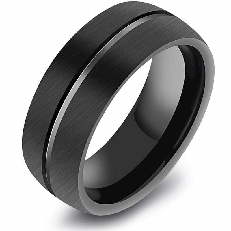 Tungsten ring zwart